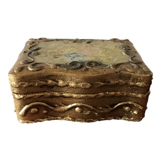 Italian Florentina Trinket Box For Sale