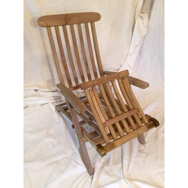 Vintage RMS Queen Elizabeth Cruise Line Deck Chair - Image 4 of 11