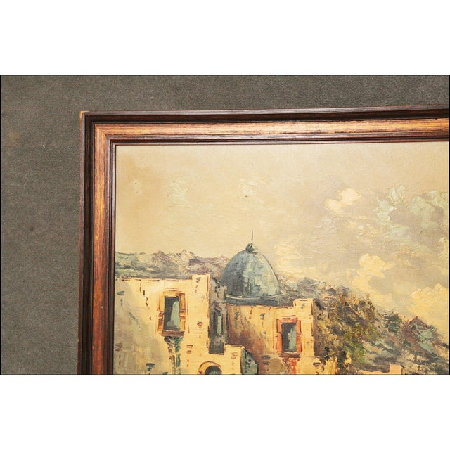 Vintage Impressionist Oil Painting of European Seascape - Image 8 of 11
