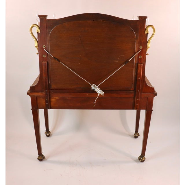 1900 - 1909 Circa 1900 French Empire Style Mahogany Dressing Table For Sale - Image 5 of 13