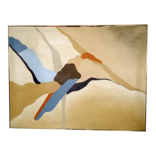Vintage Modern Abstract Oil Painting For Sale