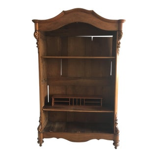 French Country Wood Armoire