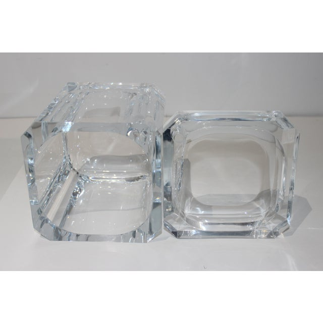 Vintage Lucite Ice Bucket With Cantilevered Lid For Sale In West Palm - Image 6 of 11
