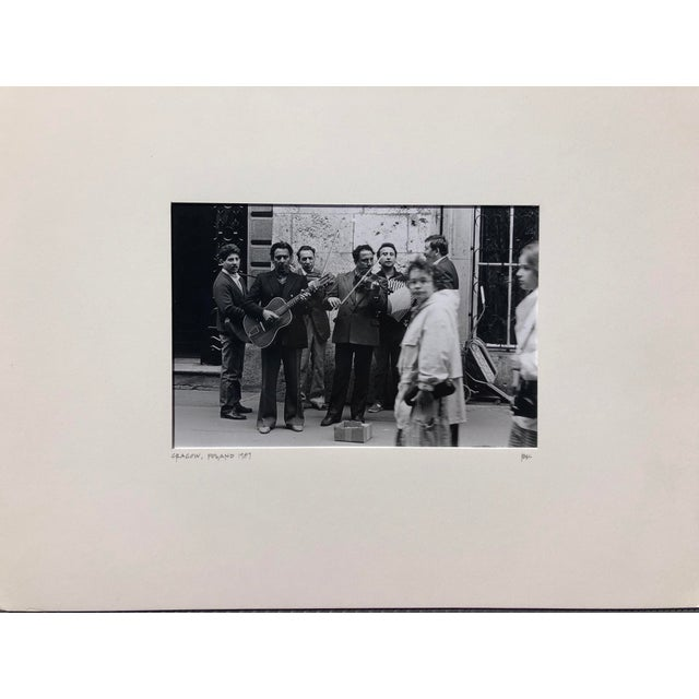 Contemporary 1987 Vintage Black & White Lmt Ed. Photograph of the Street Scene in Cracow, Then Communist Poland For Sale - Image 3 of 3