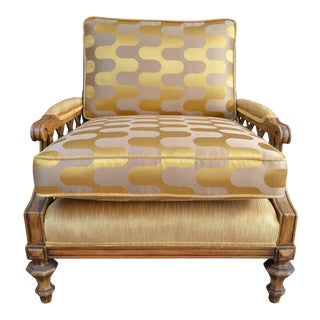 Mansa Musa Gold Velvet Lattice Chair