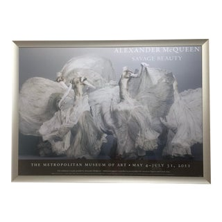 2011 Alexander McQueen Savage Beauty Met Nyc Exhibition Poster, Framed For Sale