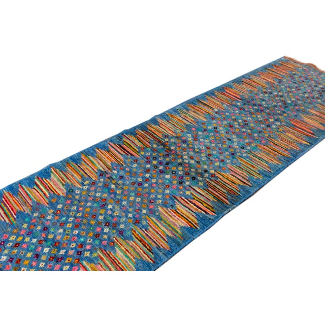 "Textile Modern Gabbeh Rug, 2'7"" X 9'10"" For Sale - Image 7 of 10"