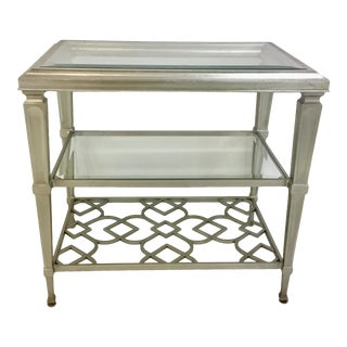 Showroom Caracole Modern Silver Social Connections End Table For Sale