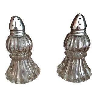 Irice Glass Salt & Pepper Shakers - a Pair