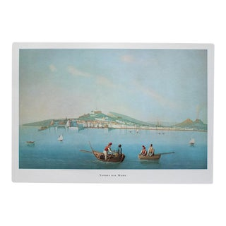 1964 Naples Seen From the Sea, First Edition Lithograph For Sale