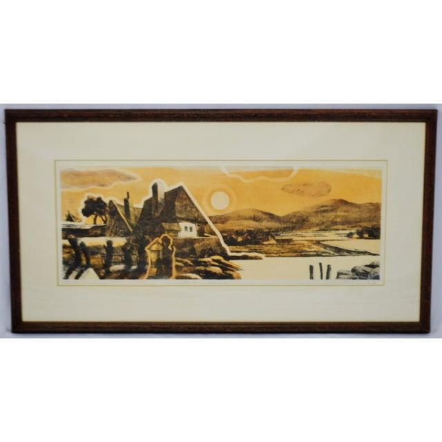 Vintage Framed Limited Edition Landscape Serigraph - Signed and Numbered For Sale - Image 12 of 13