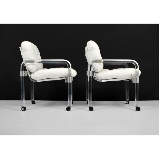 "Mid-Century Modern Set of Six ""Pipe Line Series II Chairs"" in Molded Lucite by Jeff Messerschmidt For Sale - Image 3 of 7"