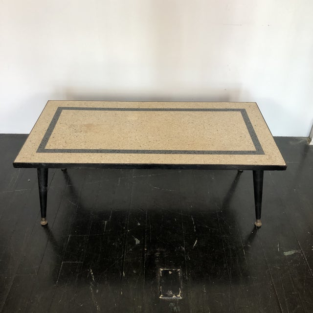 1950s 1950s Mid Century Modern Terrazzo Coffee Table For Sale - Image 5 of 5