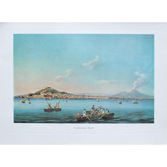 "Aqua 1964 ""Naples From the Sea"", Original Lithograph For Sale - Image 8 of 8"