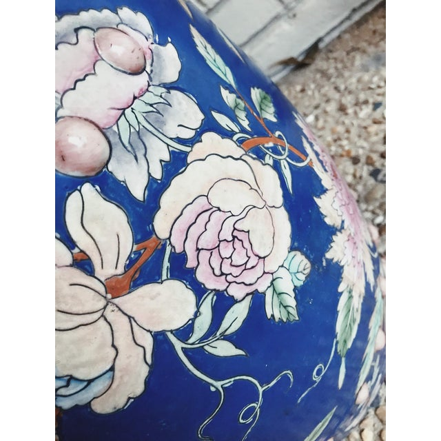 Asian 1950s Antique Hand Painted Garden Stool For Sale - Image 3 of 4