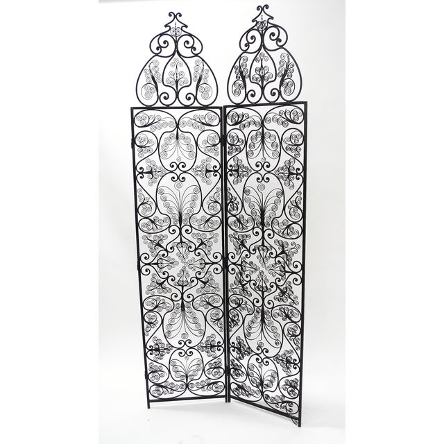 Moroccan Wrought Iron Room Screen - Image 4 of 6