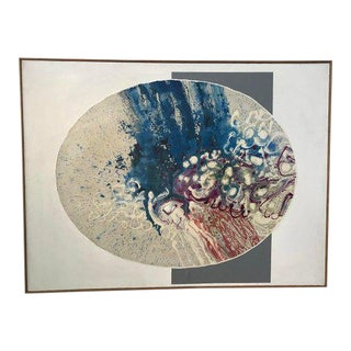 1975 Vintage John Thompson Abstract Modernist Painting For Sale