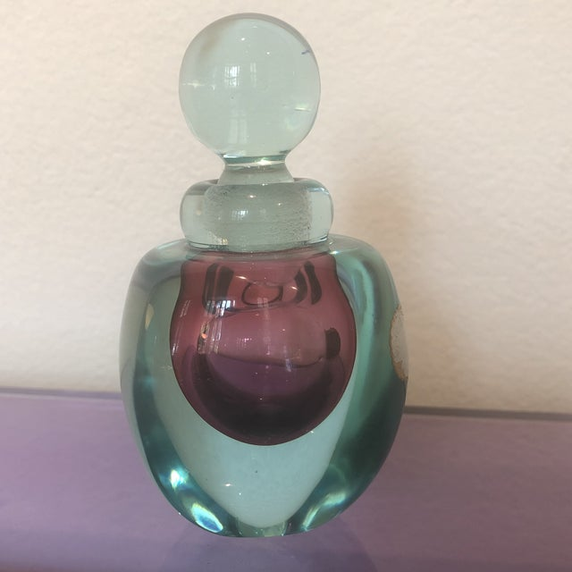 Glass Archimede Seguso Murano Glass Perfume Bottle For Sale - Image 7 of 7