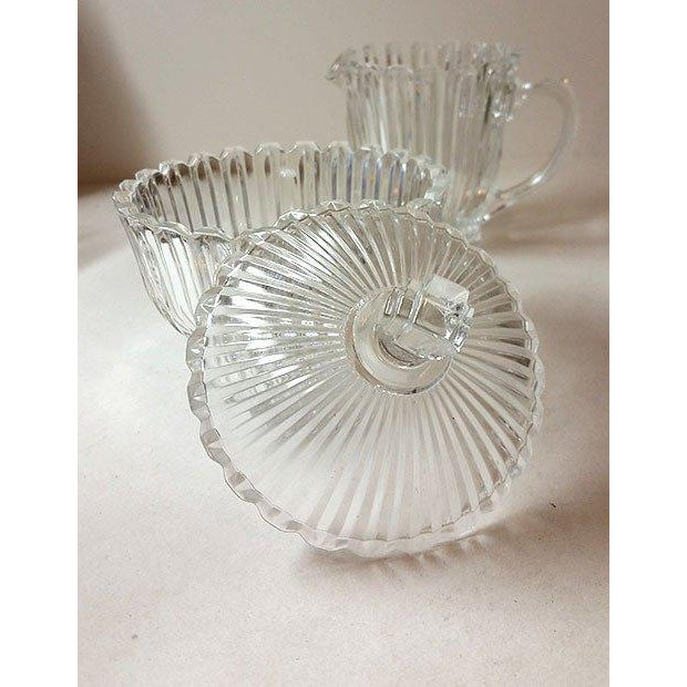 Cut Glass Creamer and Sugar - A Pair - Image 5 of 5
