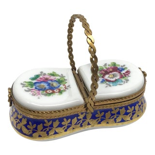 Limoges Picnic Basket Box For Sale