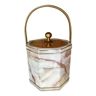 Vintage Hollywood Regency Brass Ice Bucket