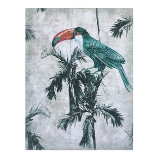 "Hand Painted French Panel "" Vintage Toucan"" For Sale"
