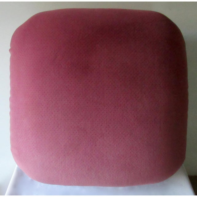 C1988-89 Mid-Century Modern, Karl Springer Attr. Souffle' Pouf Ottoman For Sale - Image 10 of 13