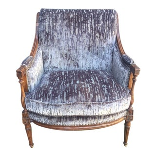 Early 19th Century French Walnut Bergere Chair For Sale