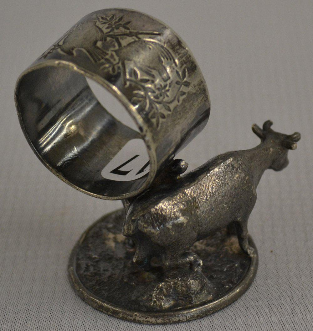 Meridien Figural Cow Silver Plated Napkin Holder - Image 4 of 5 & Meridien Figural Cow Silver Plated Napkin Holder | Chairish