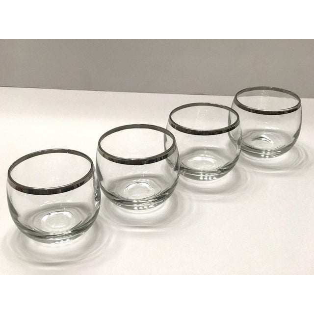 Dorothy Thorpe Mid-Century Barware Glass Set With Sterling Silver Overlay by Dorothy Thorpe For Sale - Image 4 of 13