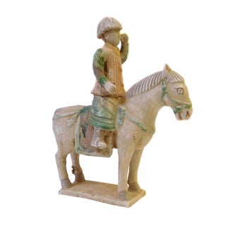 Chinese Pottery Clay Ancient Style Riding Horse For Sale