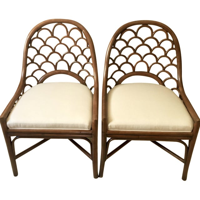 David Francis Brown Koi Side Chairs - A Pair - Image 1 of 10