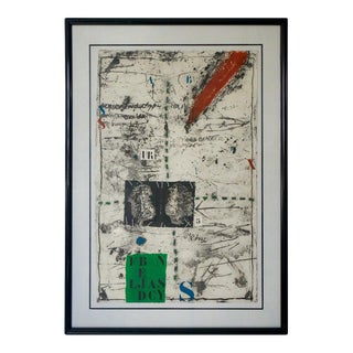 """Vintage James Coignard Mixed Media Etching Lithograph """"Ea"""" Artist Proof For Sale"""