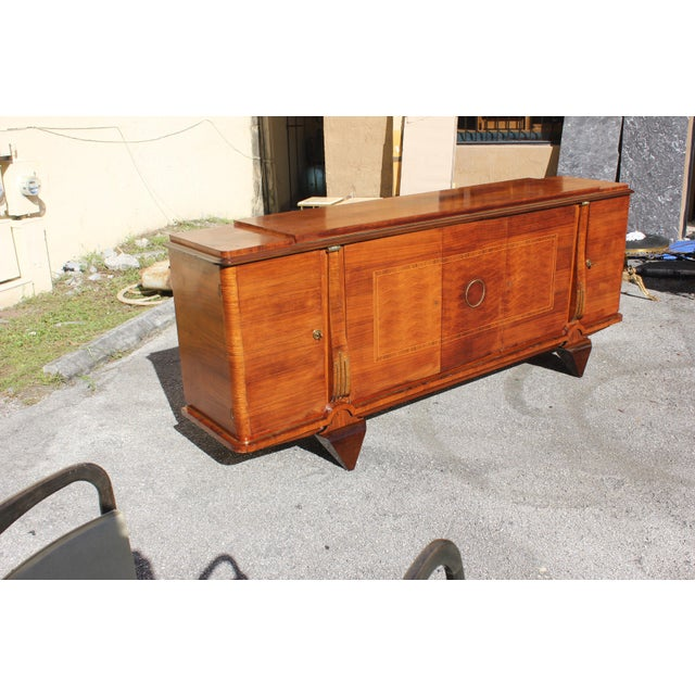 Master Piece French Art Deco Sideboard / Buffet Rosewood By Jules Leleu Circa 1940s For Sale In Miami - Image 6 of 11