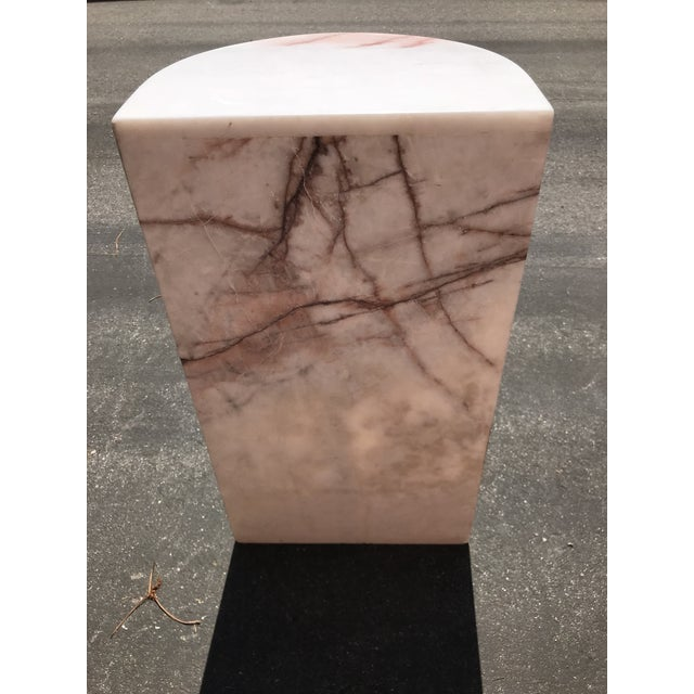1970's Vintage Solid Marble Side Table For Sale - Image 11 of 12