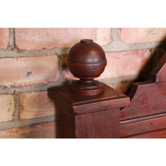 19th Century Eastlake Victorian Burled Walnut Full Size Bed For Sale - Image 4 of 6