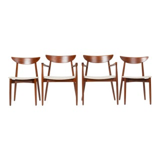 Set of Four Dining Chairs by Harry Østergaard for Randers Møbelfabrik For Sale