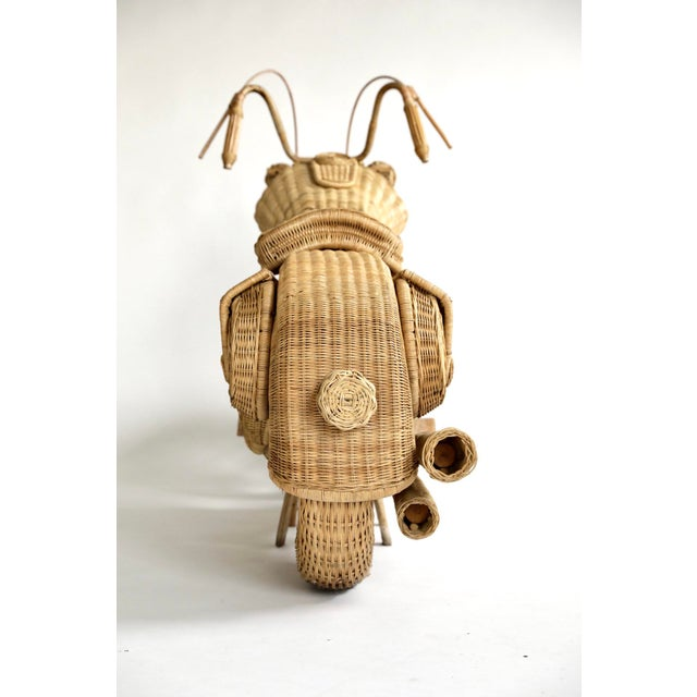 2000 - 2009 Tom Dixon Rattan Motorcycle Sculpture For Sale - Image 5 of 13