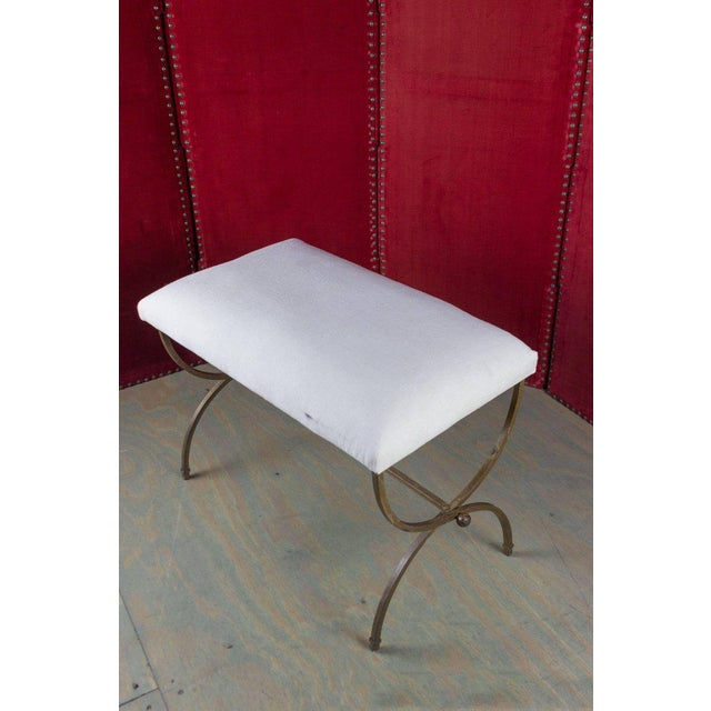 Spanish Gilt Iron Bench For Sale - Image 9 of 10