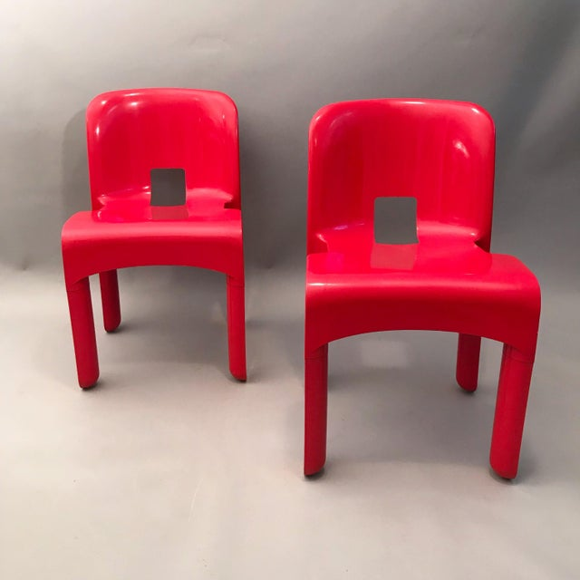 Plastic Pair of Joe Colombo Chairs For Sale - Image 7 of 7
