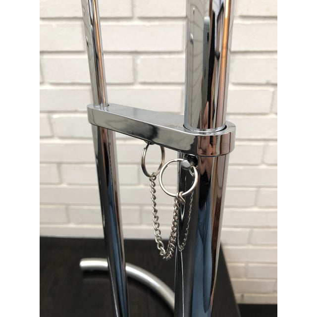 Chrome Eileen Gray Inspired Chrome End Tables - a Pair For Sale - Image 8 of 10