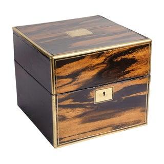 Antique English Rosewood Cellarette Box For Sale