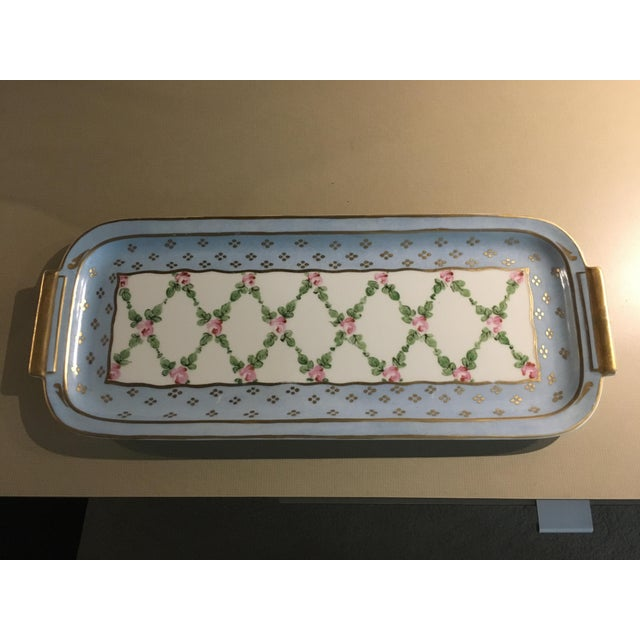 Hand Painted French Porcelain Rectangular Plate - Image 3 of 5