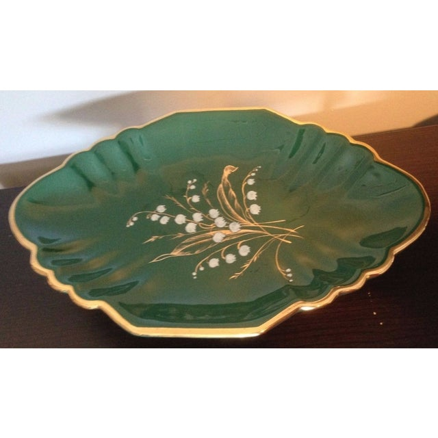 1930s Antique Egisto Fantechi Floral Majolica Porcelain Dish For Sale - Image 12 of 12