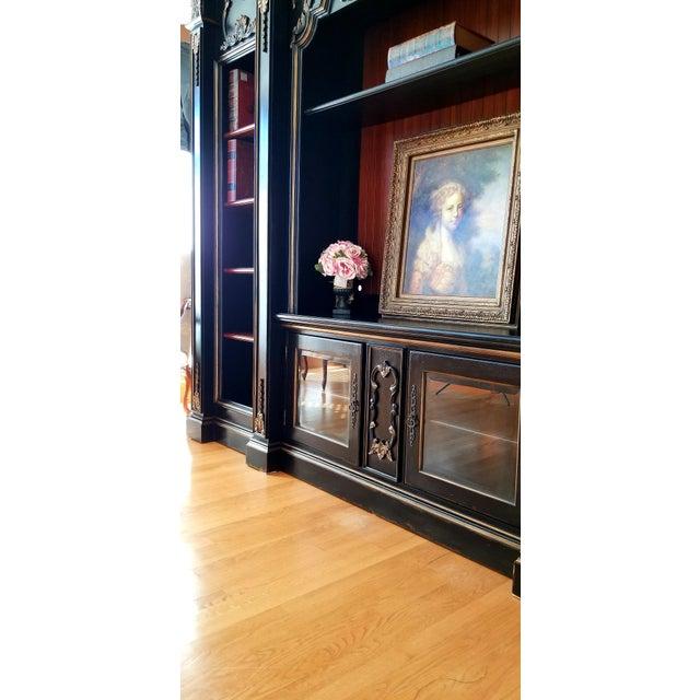 Custom Furniture Builders Custom Habersham Influenced Book Shelves For Sale - Image 4 of 13