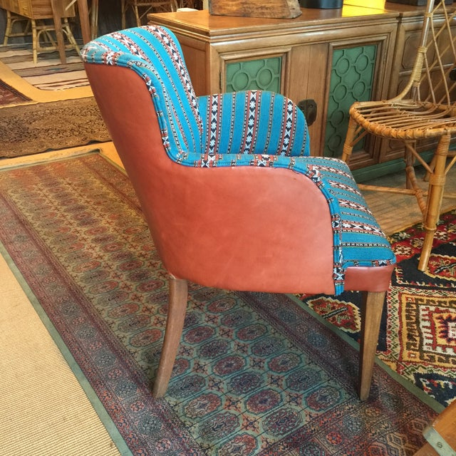 Newly Upholstered Vintage Chair in Leather - Image 4 of 5