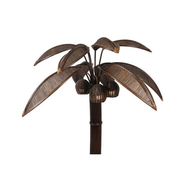 3f9071e891bd2 Mario Lopez Palm Tree Floor Lamp For Sale - Image 6 of 8