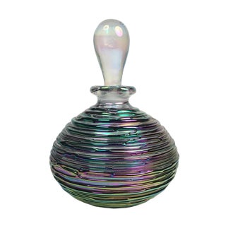 Dichroic Art Glass Perfume Bottle For Sale