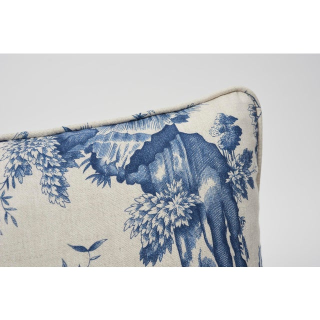 Schumacher Double Sided Pillow In Shengyou Toile Print Chairish