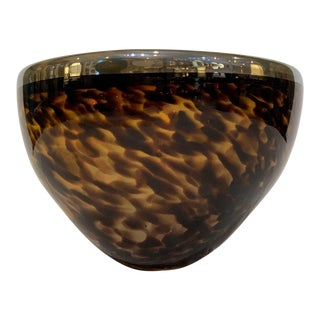 Hand Blow Art Glass Bowl For Sale